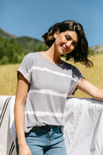 Play In Gray Top - Amaranth Collection