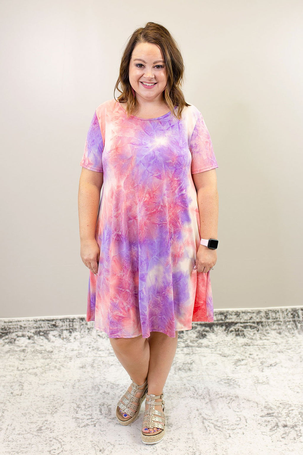 Candy Swirl Tie Dye Dress - Amaranth Collection