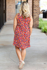 Desert Blooms Dress in Red