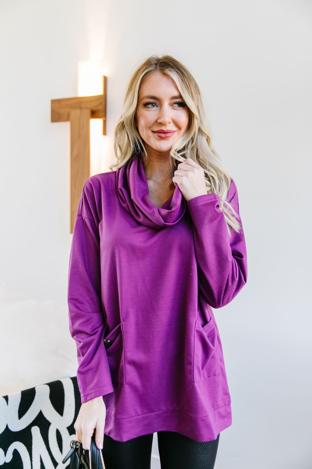 Safe & Sound Cowl Neck In Sugarplum - Amaranth Collection