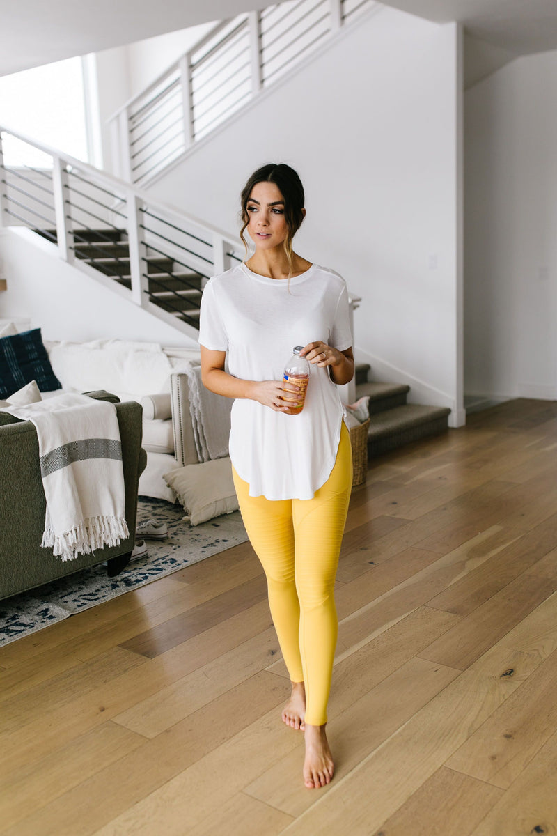Soft As Butter Moto Leggings In Yellow