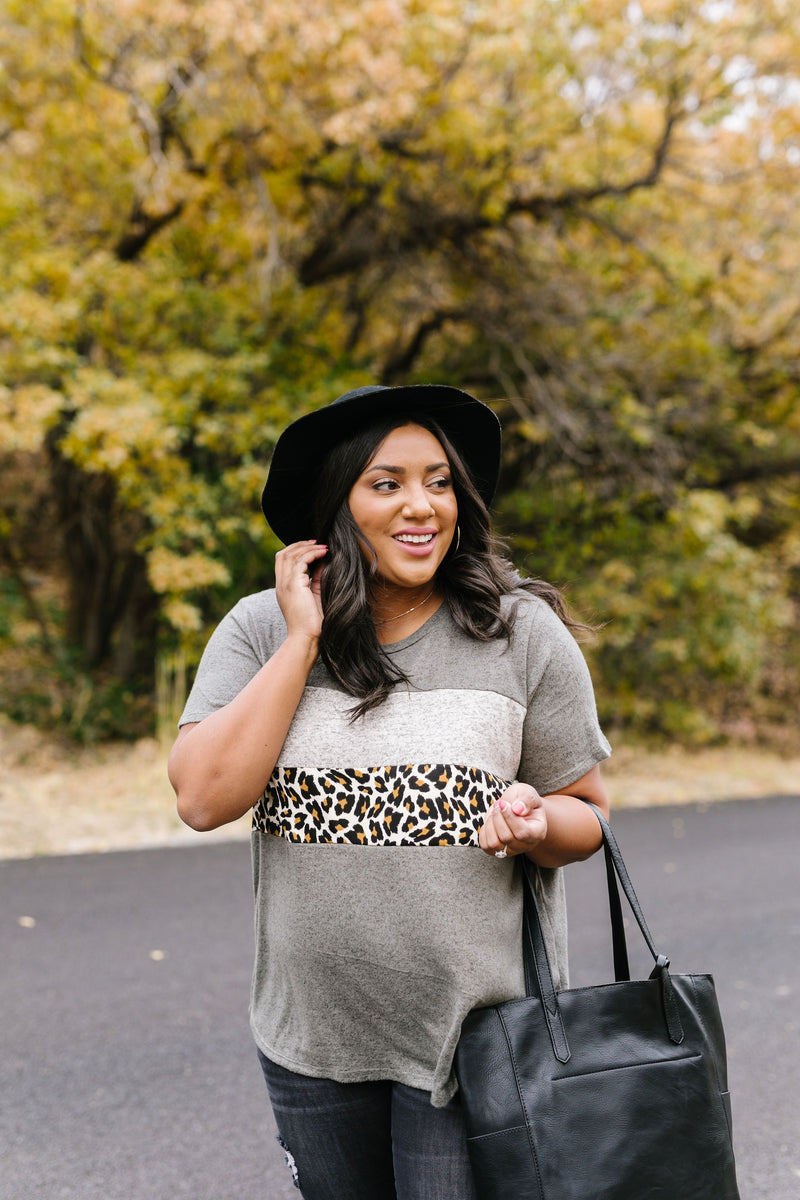 Stripes + Spots Color Block Top