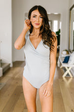 Surplice Sleeveless Bodysuit