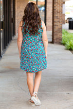 Desert Blooms Dress in Teal