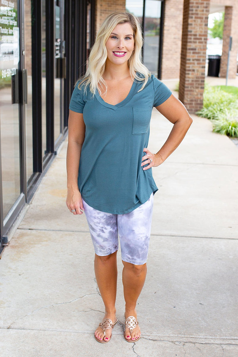 comfortable v neck flowy tee