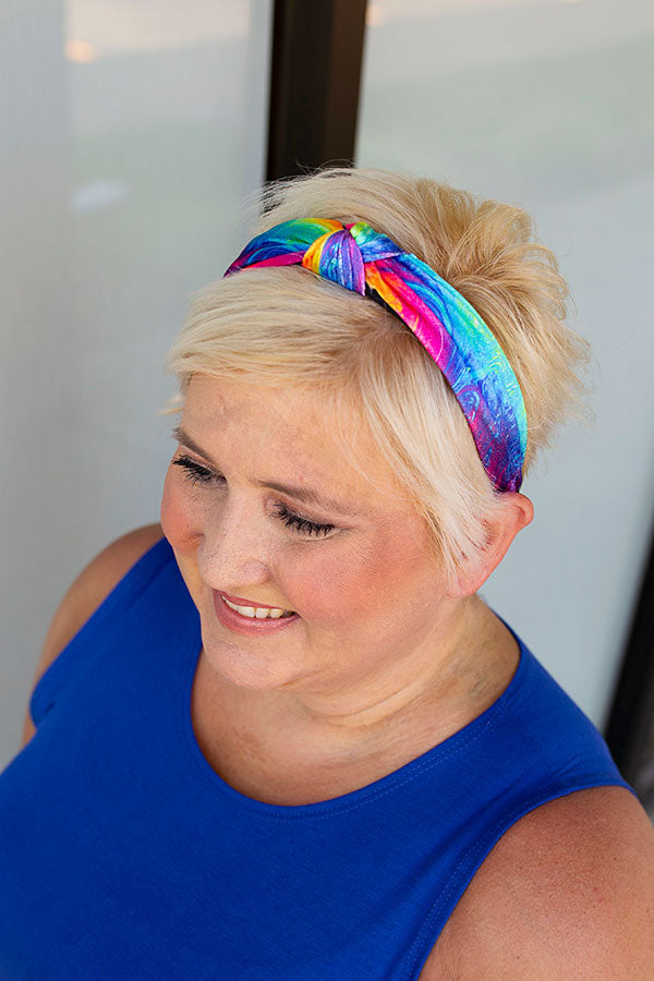 Bright Tie Dye Velvet Headband
