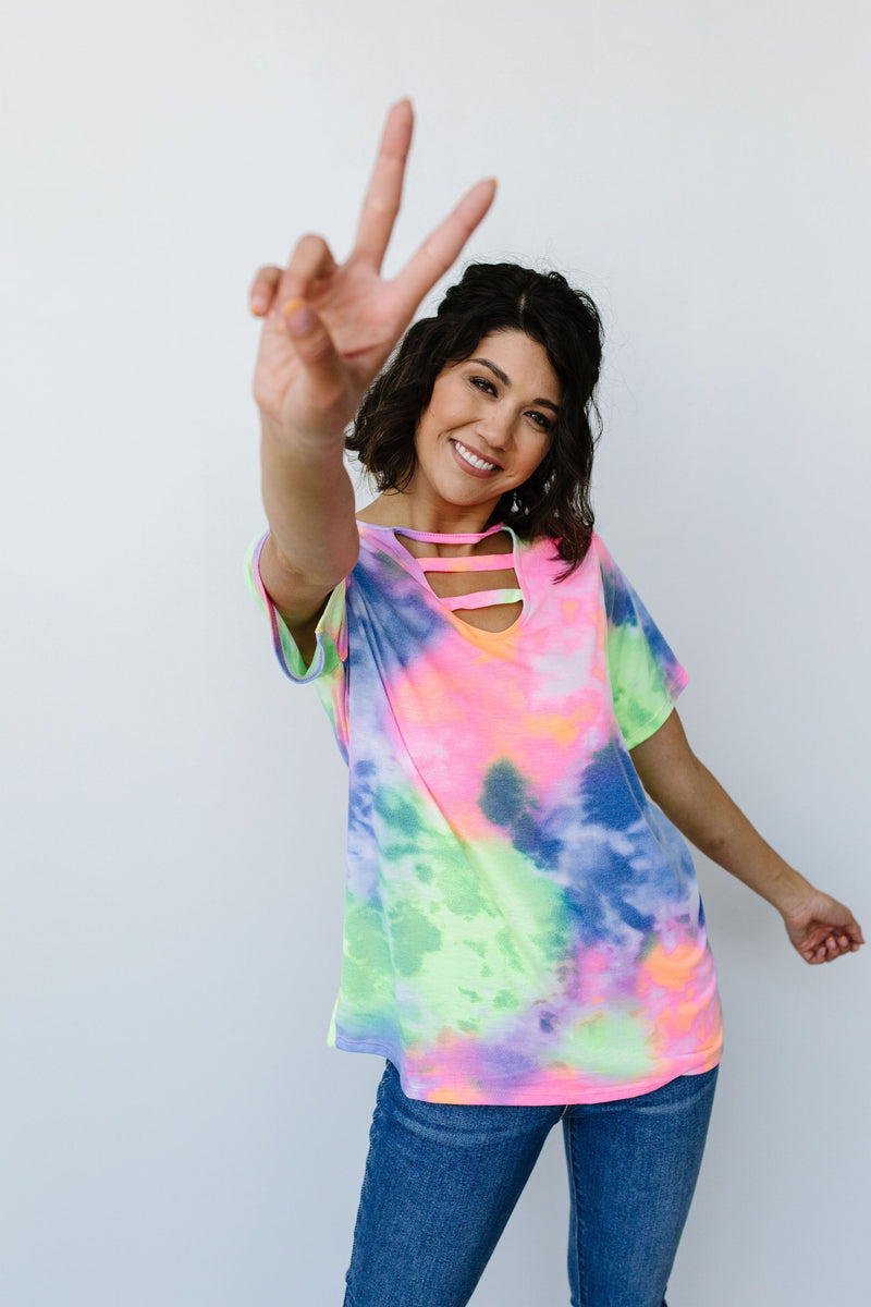 Tie Dyed And True Top - Amaranth Collection
