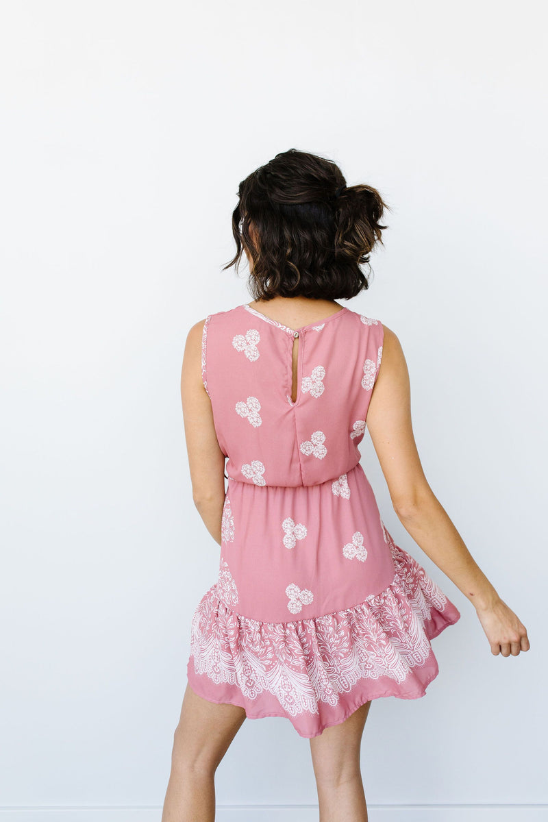 Triple Threat Mini Dress In Mauve - Amaranth Collection