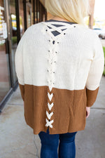Two-Tone Knit Cardigan - Amaranth Collection