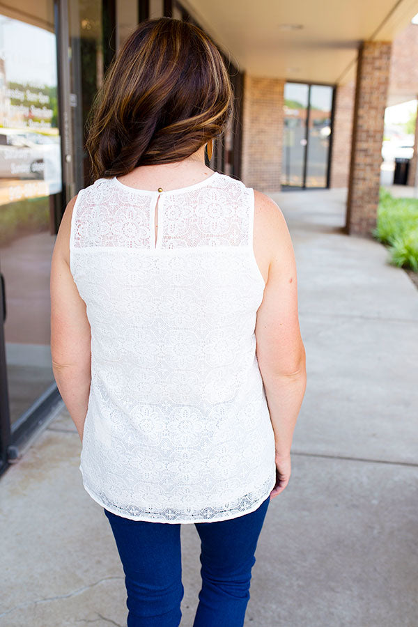Lacy Days Embroidered Tank