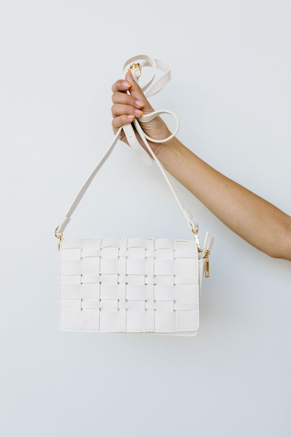 Woven Vegan Leather Clutch - Amaranth Collection