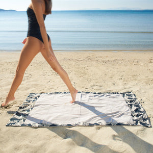 Life Of Pi Greige | Head 2 Toe Beach Towel - Sun of a Beach