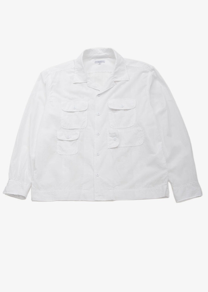 Engineered Garments Bowling Shirt White Cotton Lawn