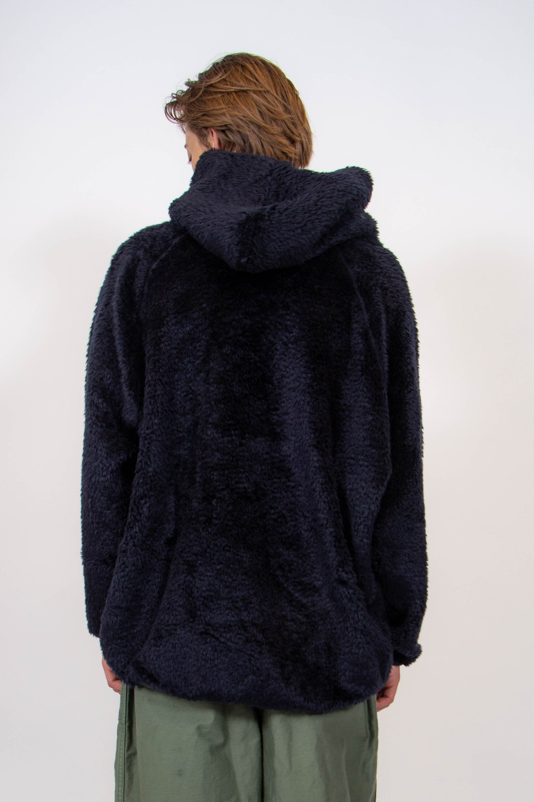 Andre Hoody Navy Synthetic Fur