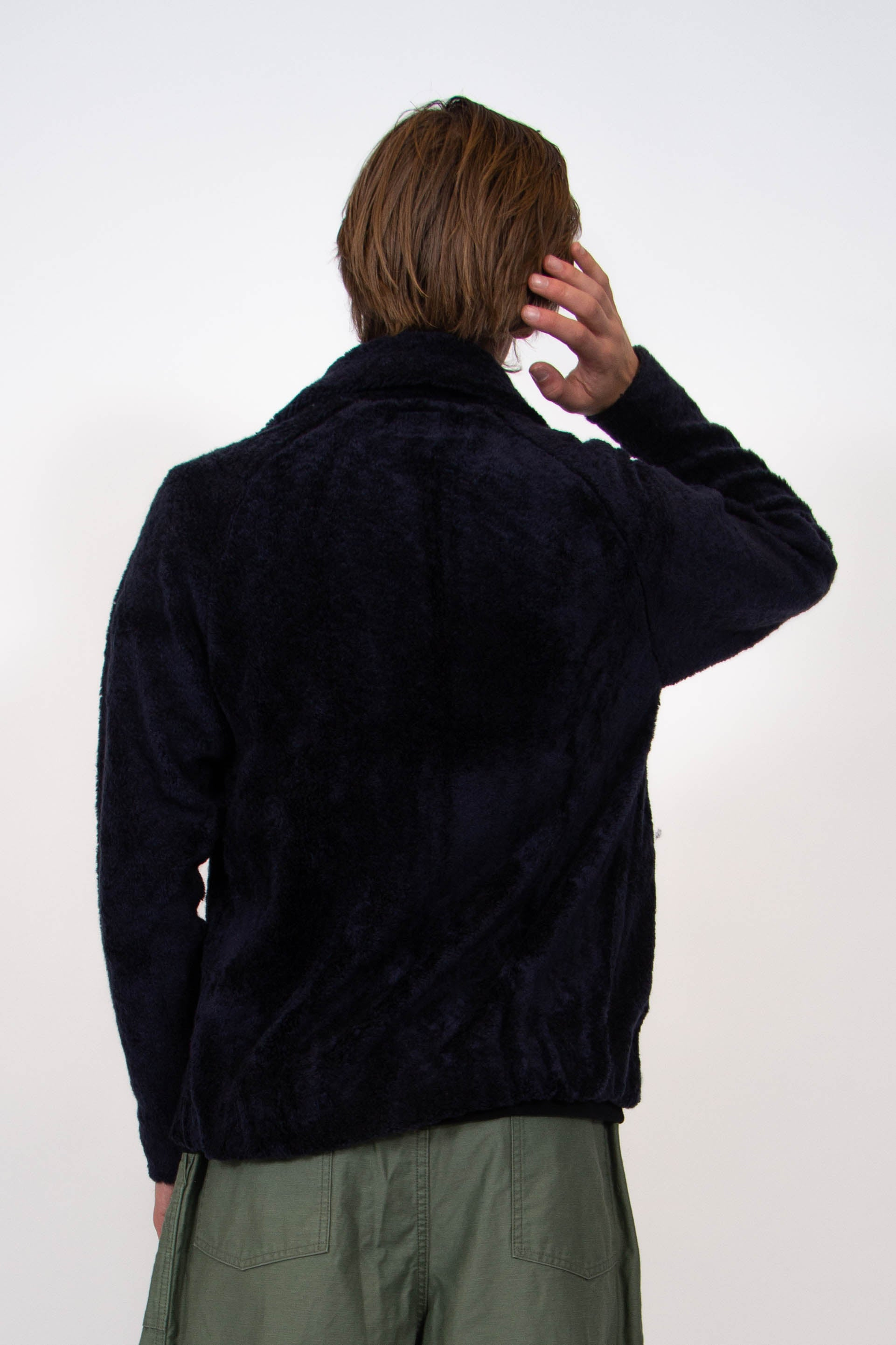 Lewis Jacket Navy Synthetic Boa