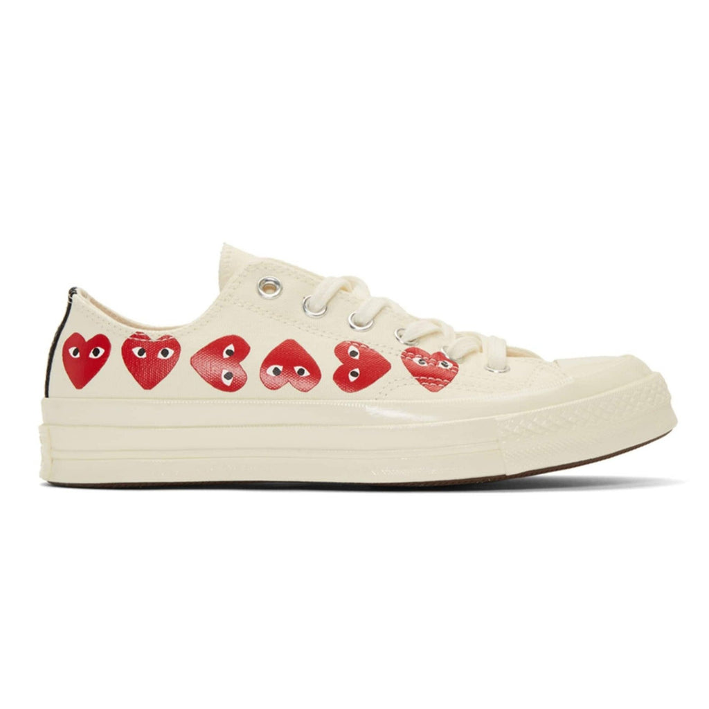 CDG X Converse Multi Heart Low Off White Shoe