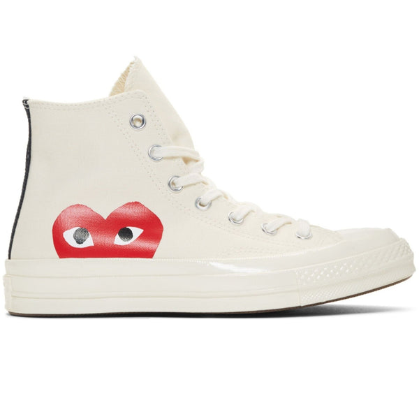 CDG X Converse Single Heart Hi Off White Shoe