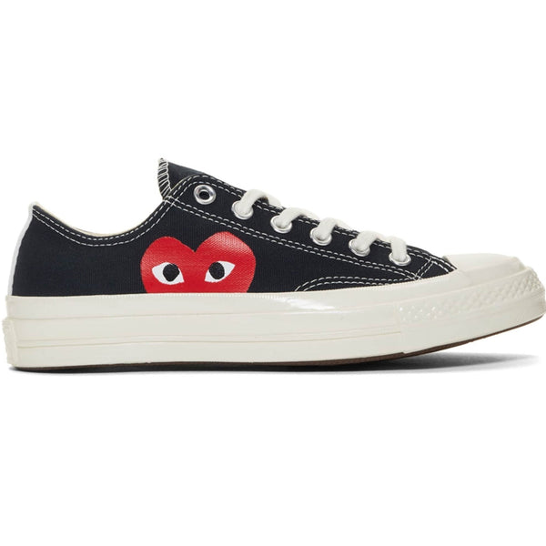 CDG X Converse Single Heart Low Black Shoe