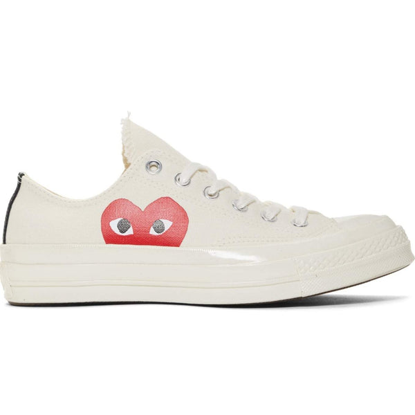 CDG X Converse Single Heart Low Off White Shoe