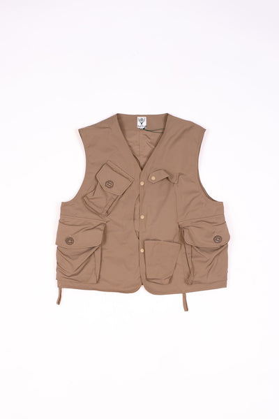 South2 West8 Tenkara Vest Poly Gabardine Khaki