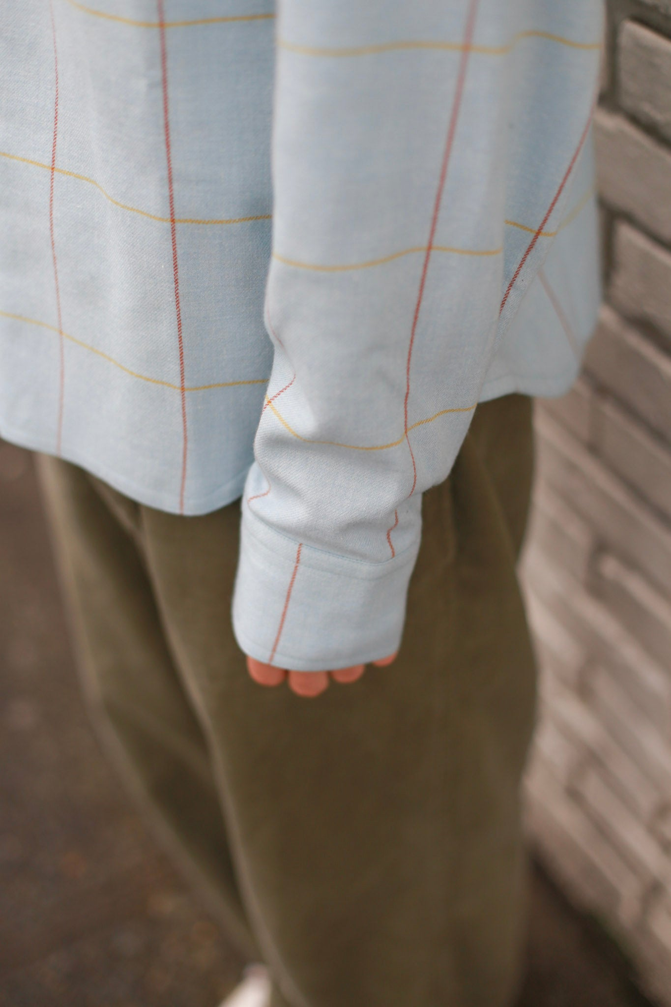 Reverse Pleat Denim Trouser Lightwash