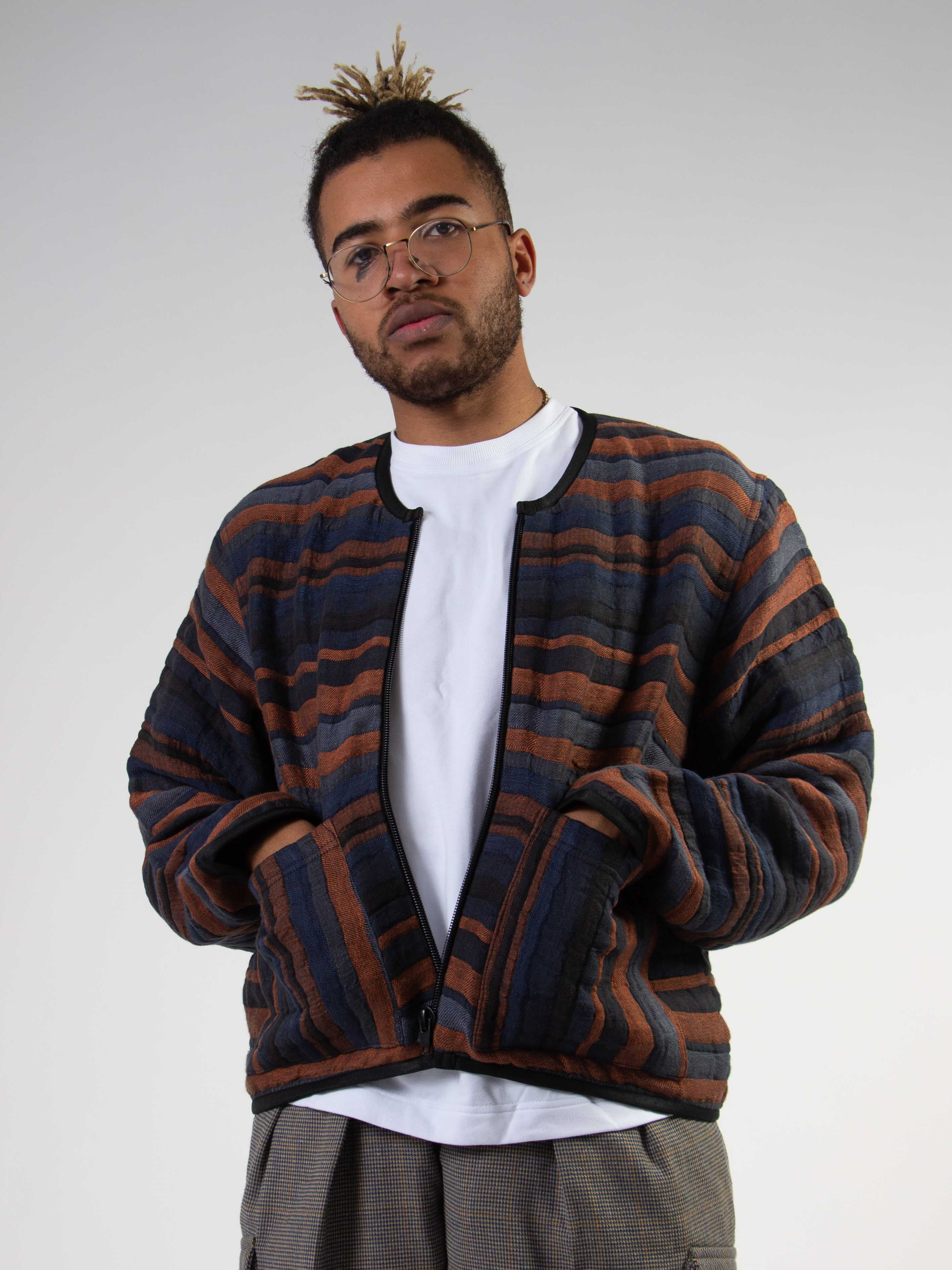 Quilted Linen Bomber Jacket