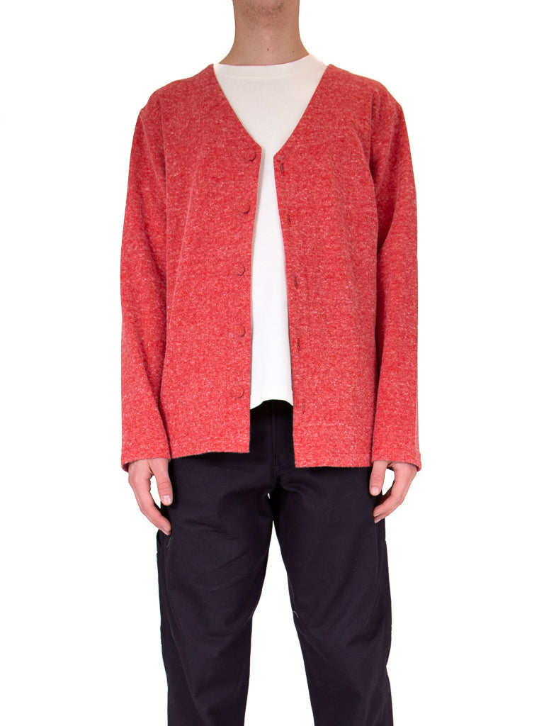 Angora/Wool Blend Cardigan Hyper Crimson