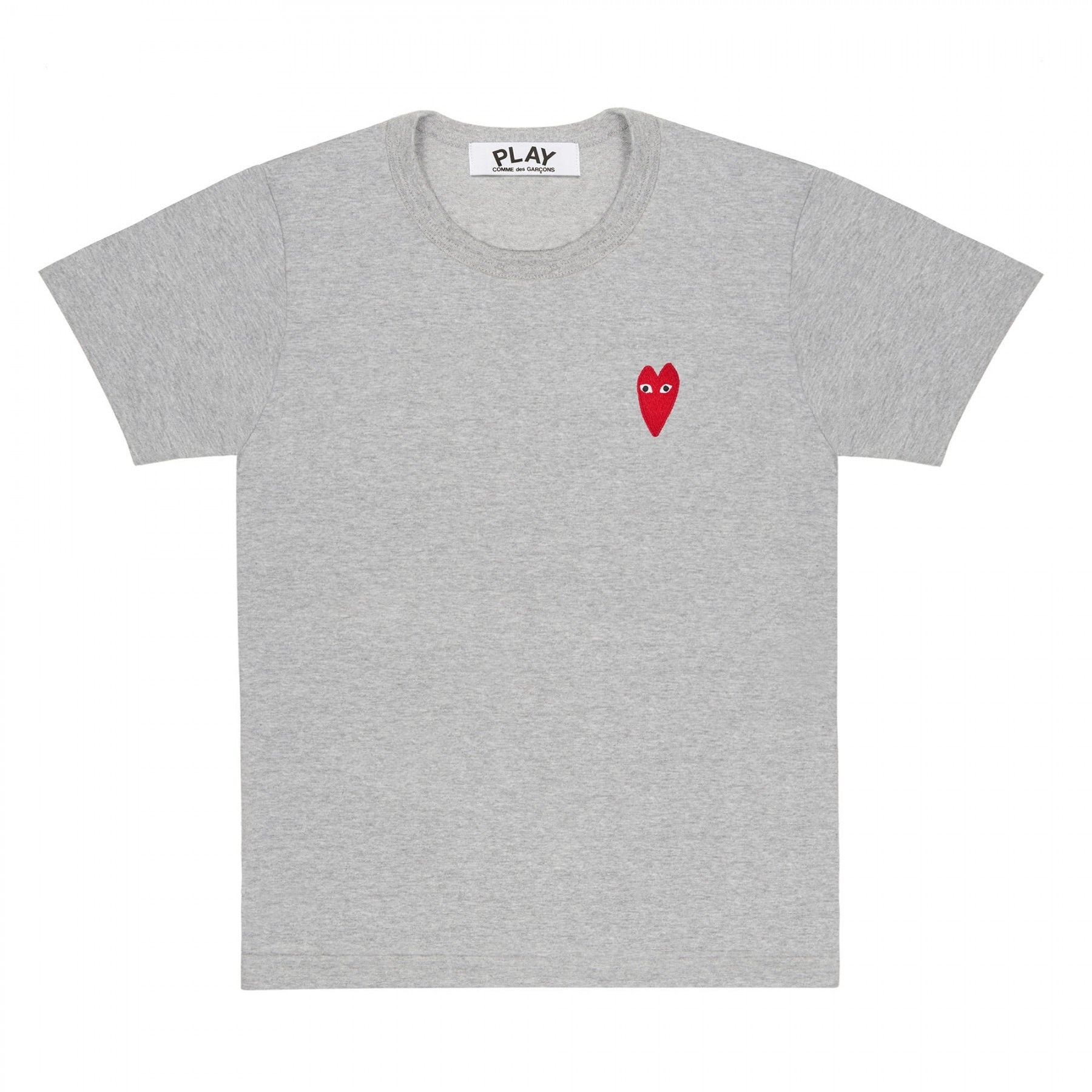 Stretch Heart Logo Tee Grey / Red
