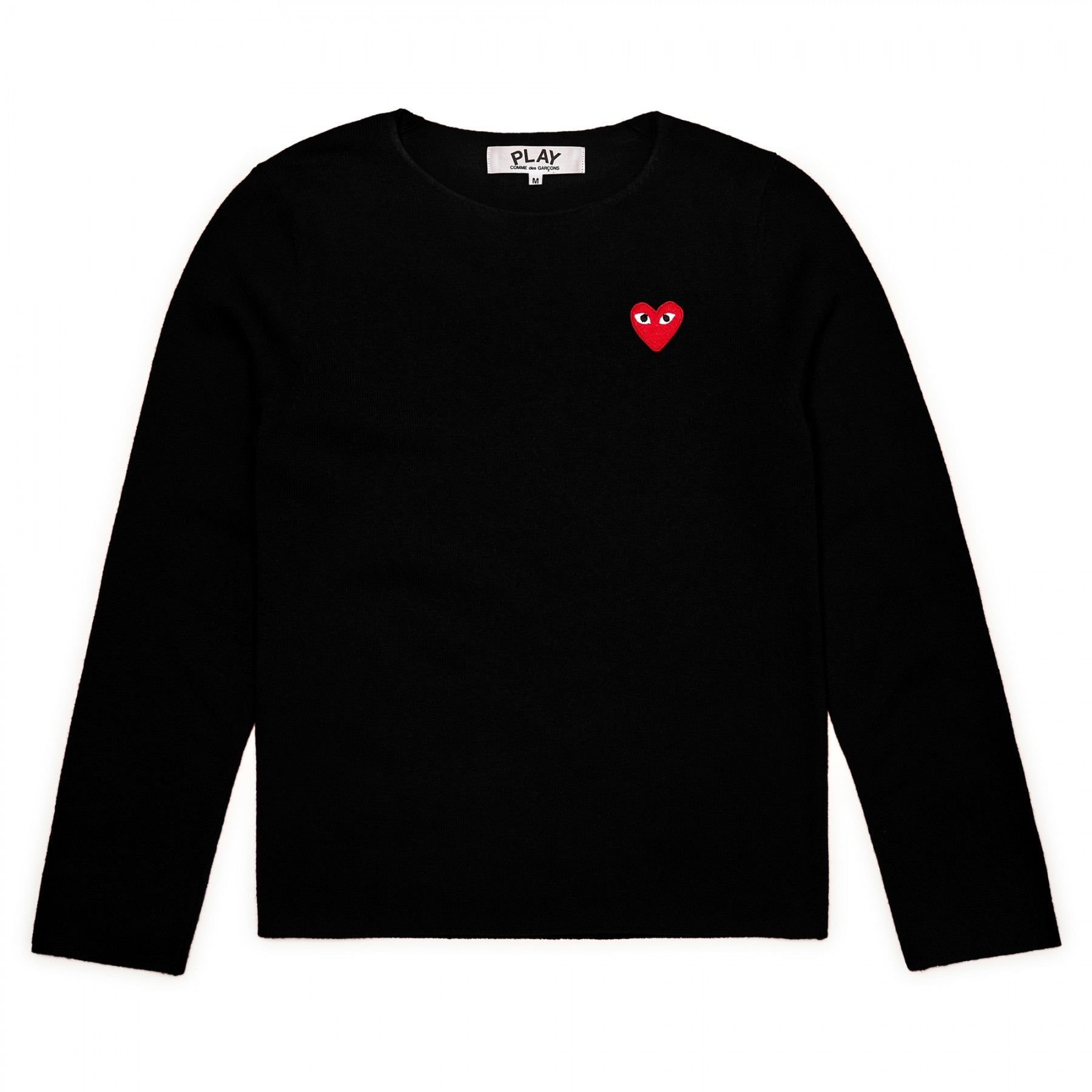 Knit lambswool Heart Crewneck Black/Red