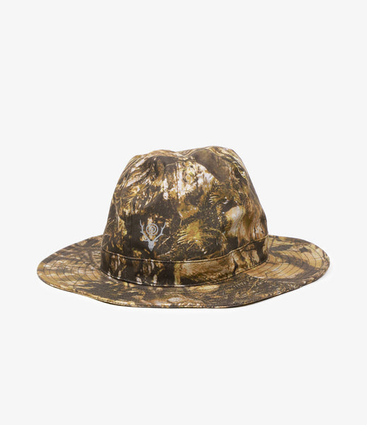 South2 West8 Crusher Hat Waterproof Camo Khaki