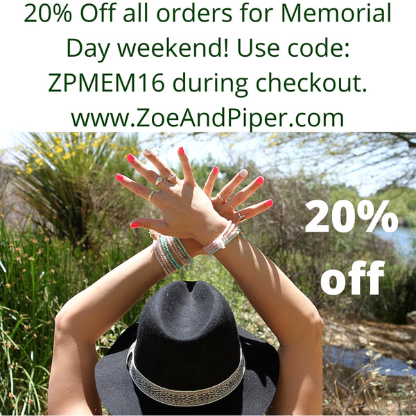 yoga jewelry memorial day sale Zoe and Piper