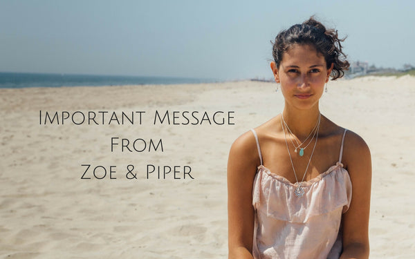 message from zoe and piper