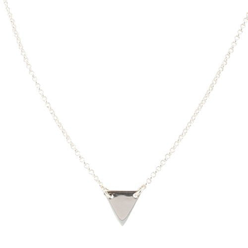 Small Geometric Triangle Necklace in Sterling Silver, #6482-ss