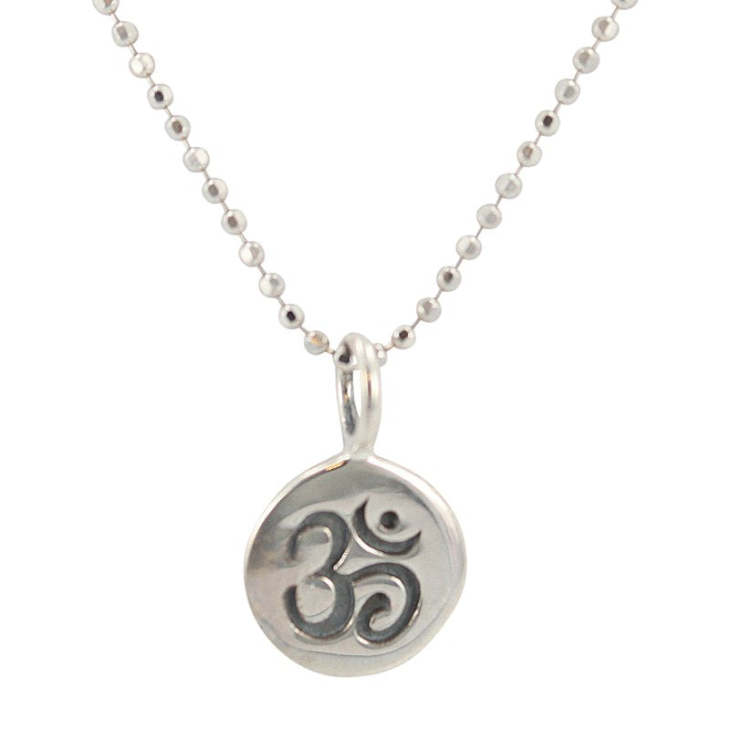 White Magic Triple Spiral Amulet Necklace in Sterling Silver on an 18 Inch Rhodium Plated Sterling Bead Chain #6613-ss