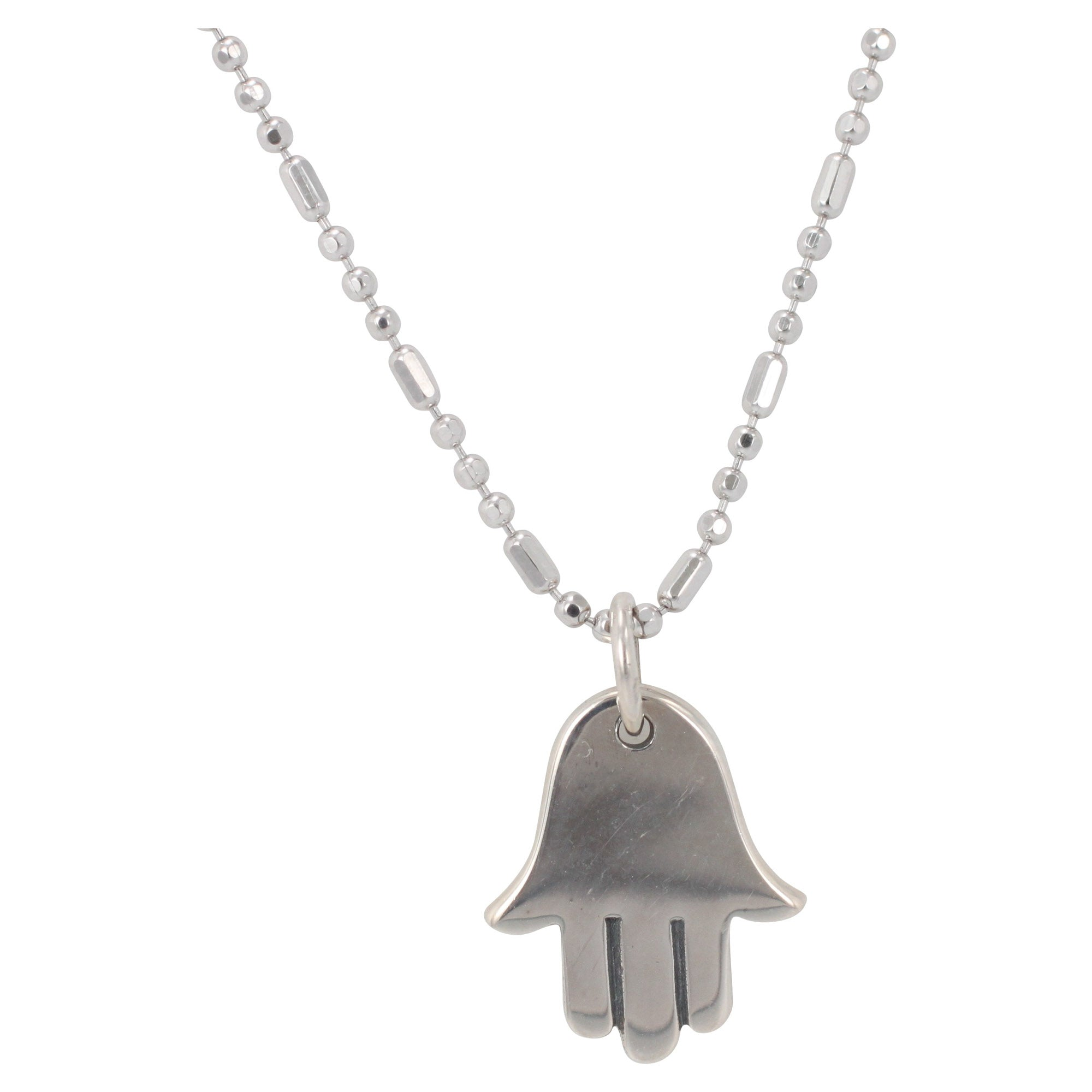 silver hand in layered boutique necklace happiness en necklaces hamsa