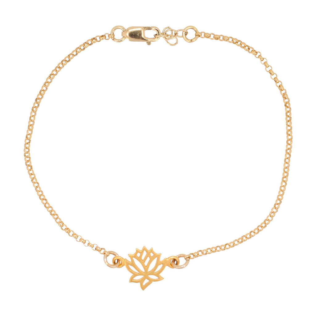 Healing gemstone jewelry zoe and piper tiny delicate gold lotus flower bracelet 6215 yg izmirmasajfo