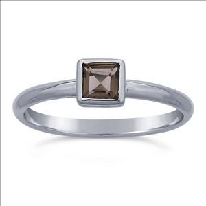 Smokey Quartz Ring in Sterling Silver, #6392-ss