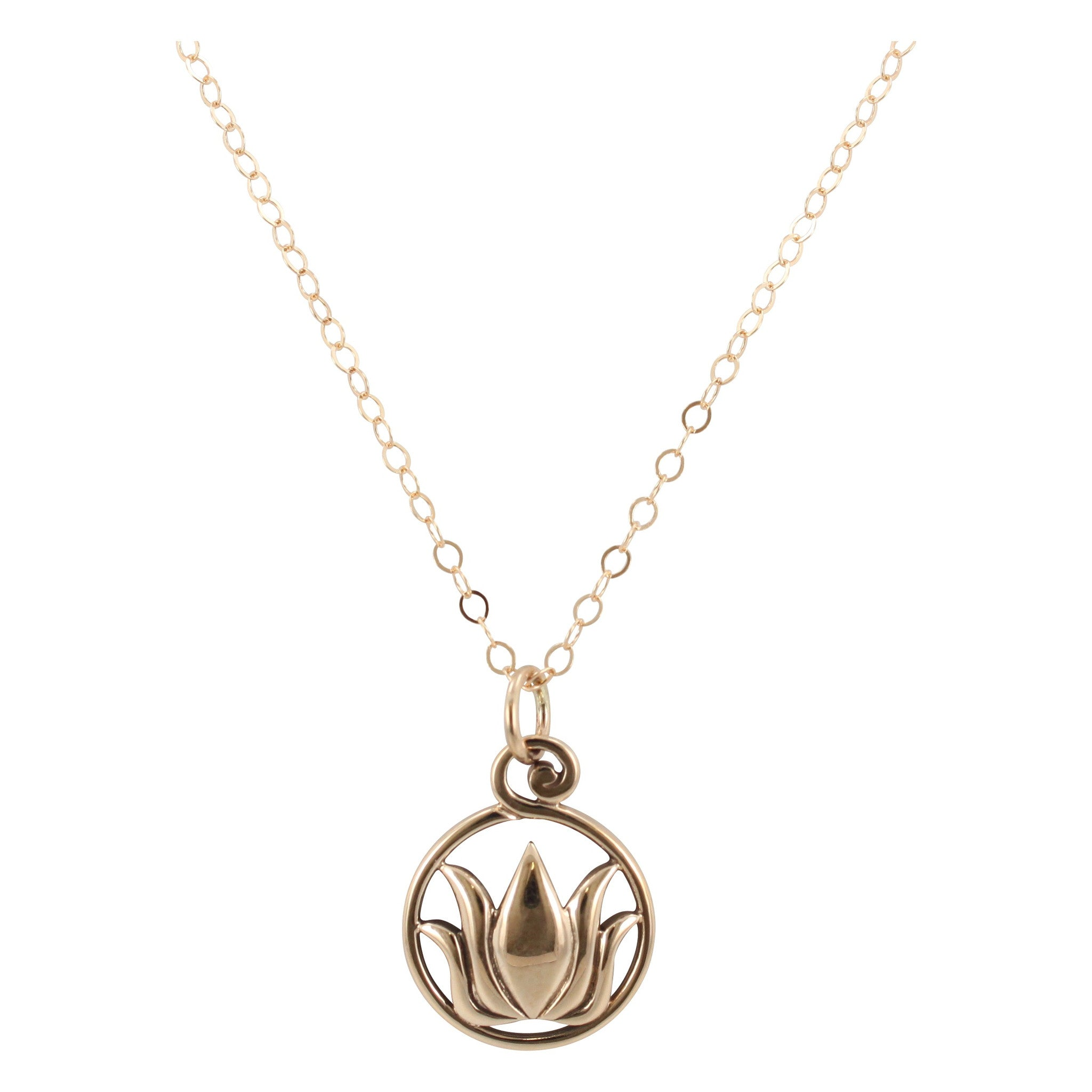 flower birthstone lotus necklace locket silver
