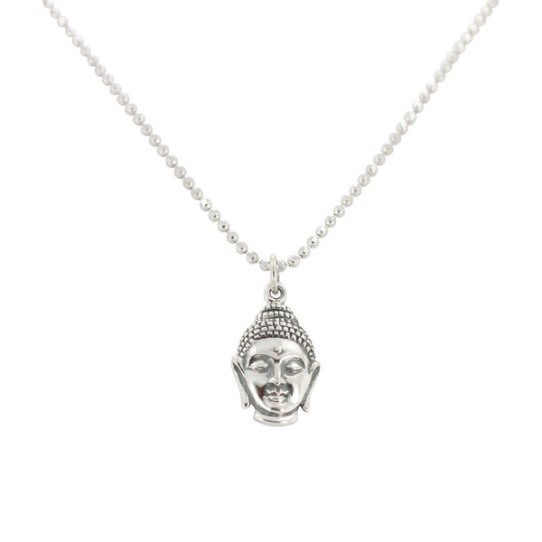Buddha jewelry zoe and piper buddha necklace in sterling silver 6778 ss aloadofball Images