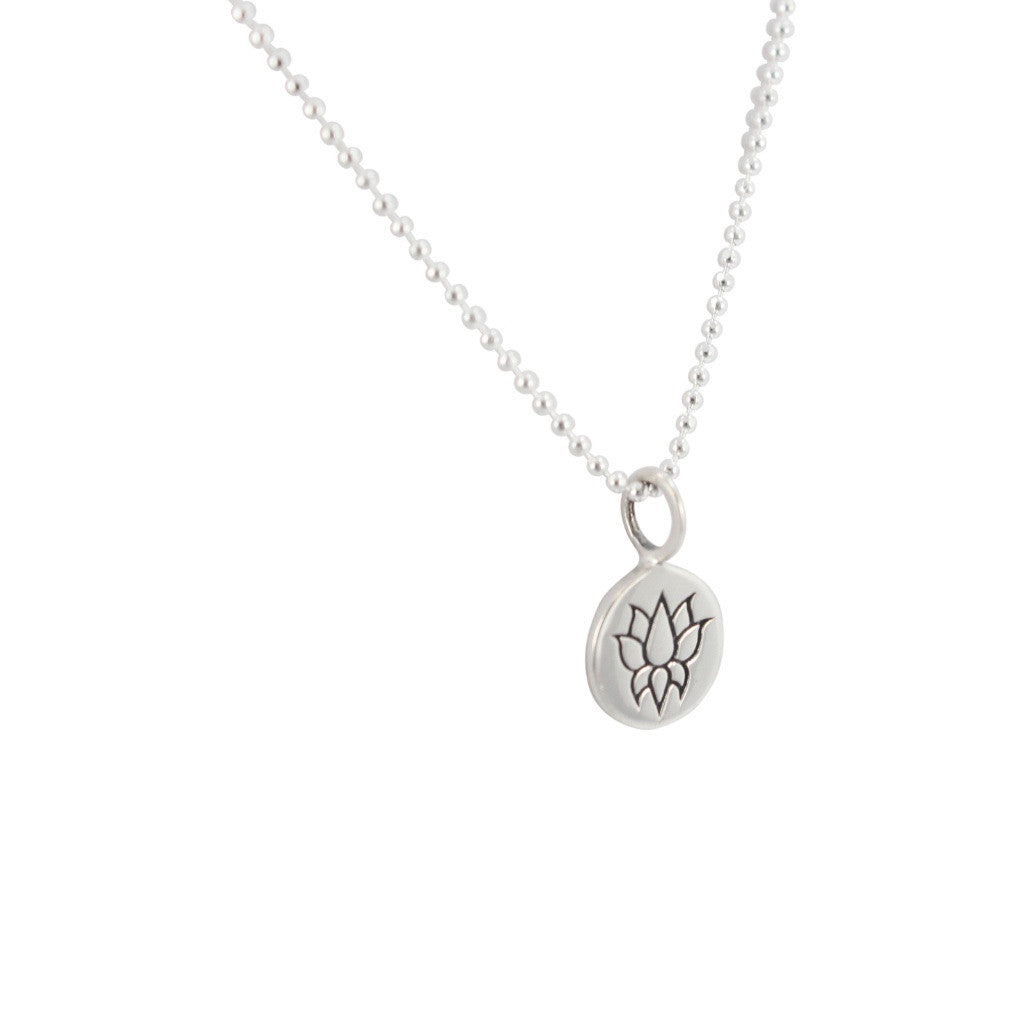 Tiny round lotus flower necklace 6969 ss zoe and piper tiny round lotus flower necklace 6969 ss izmirmasajfo