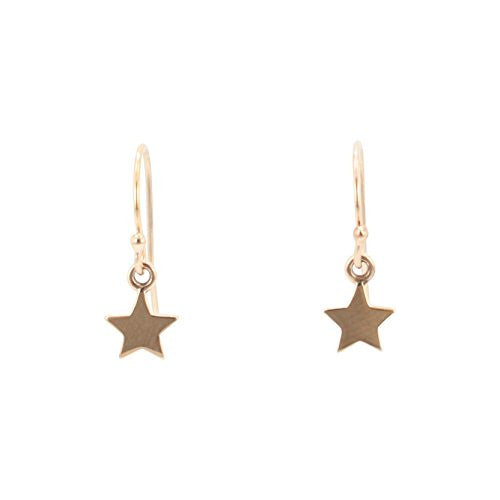 404645384 Tiny Star Dangle Earrings in Bronze - Zoe and Piper
