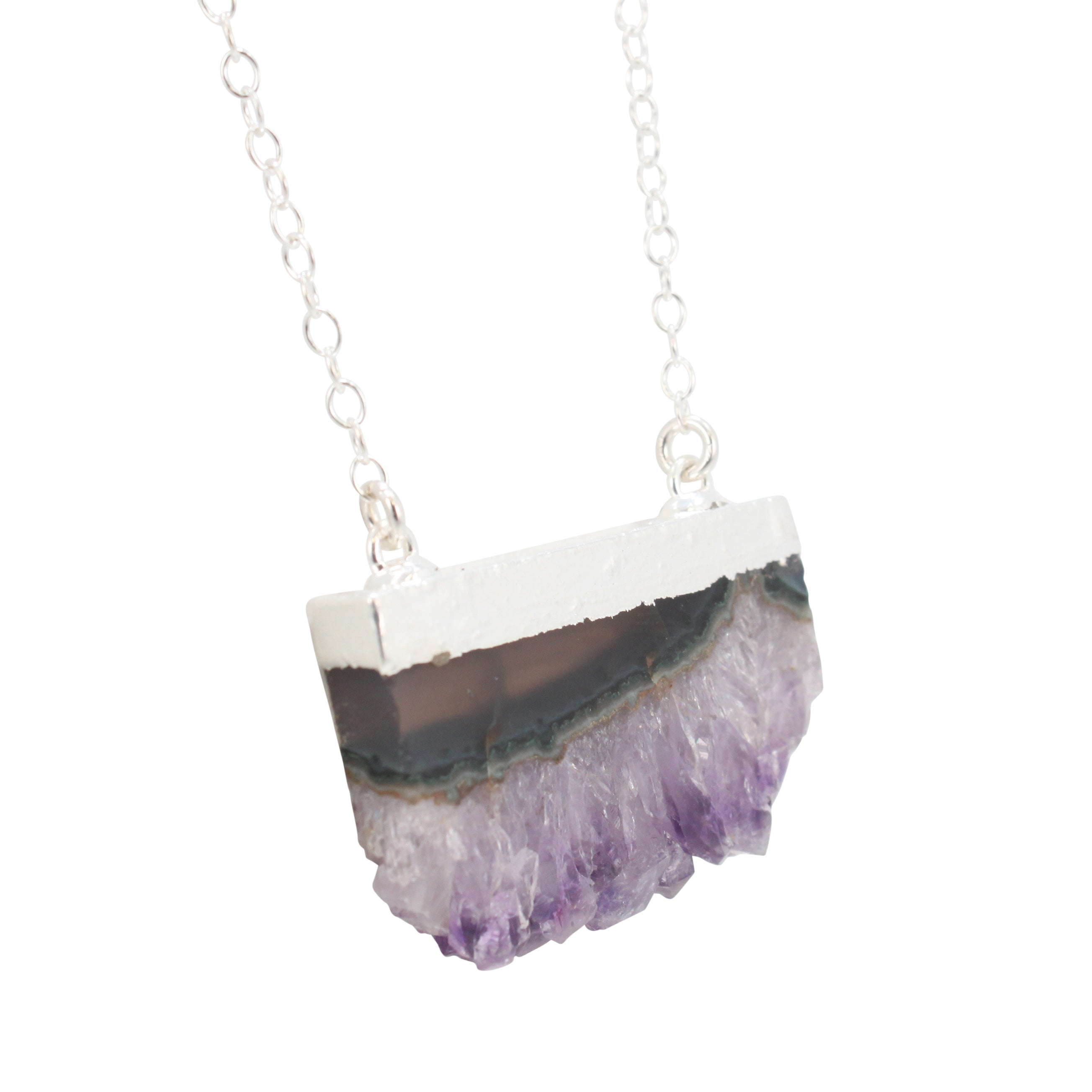 amethyst necklace collections costume ishka raw jewellery pendant necklaces products
