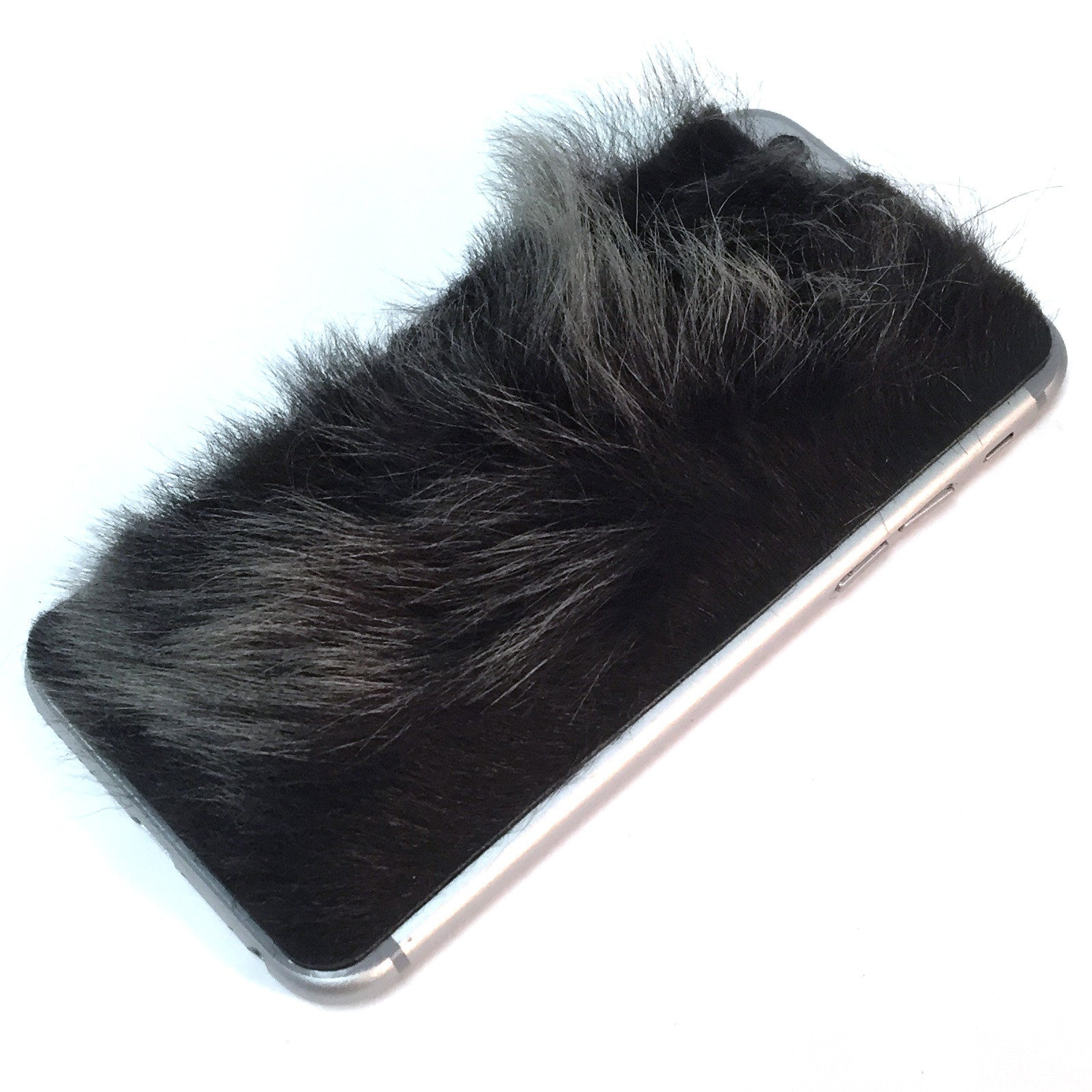 Two Tone Black Sheep Fur iPhone 7 Leather Skin
