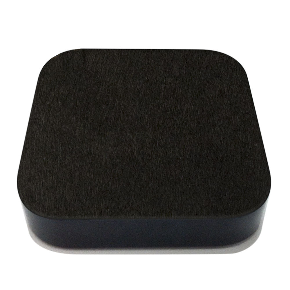 Black Pony Hair Apple TV Leather Cover