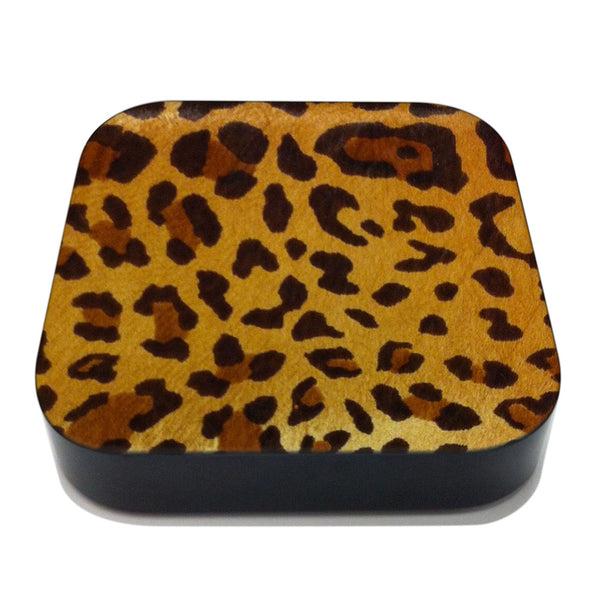 Leopard Pony Hair Apple TV Leather Cover