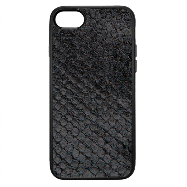 Black Anaconda iPhone 8 Leather Case