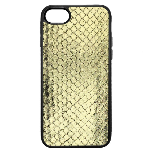 Gold Foil Anaconda iPhone 8 Leather Case