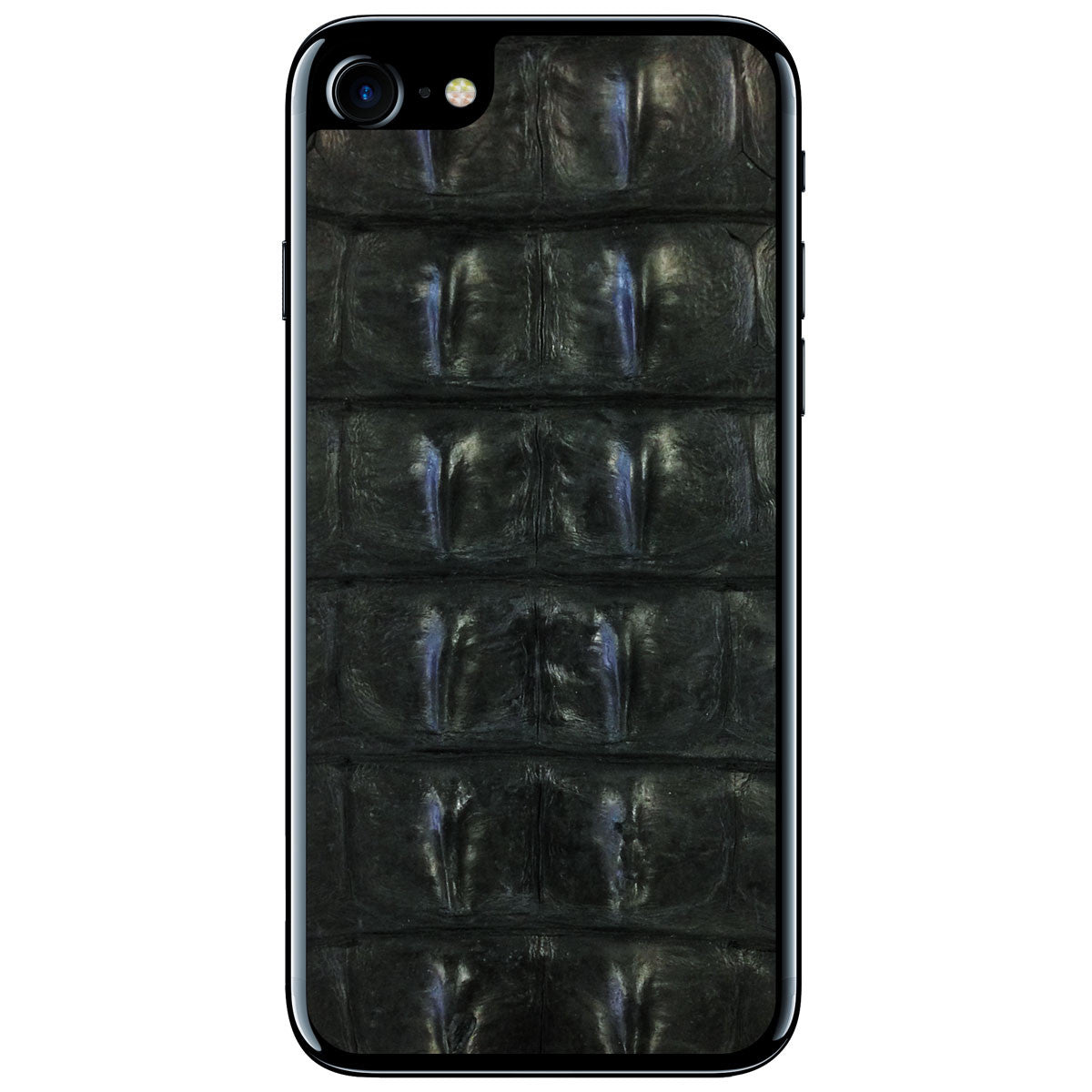 Black Crocodile Backstrap iPhone 7 Leather Skin