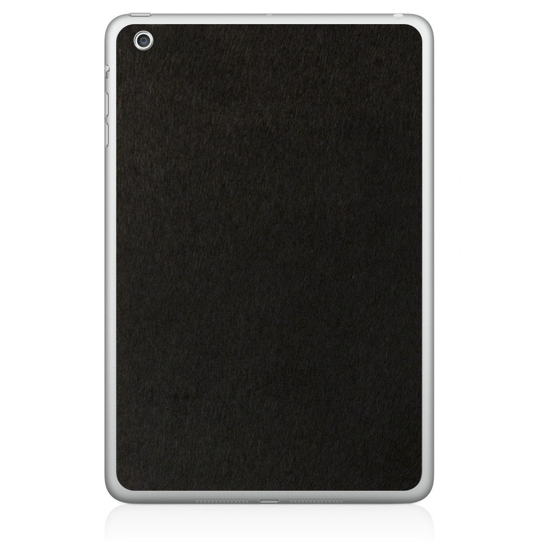 Black Pony Hair iPad Mini Leather Skin