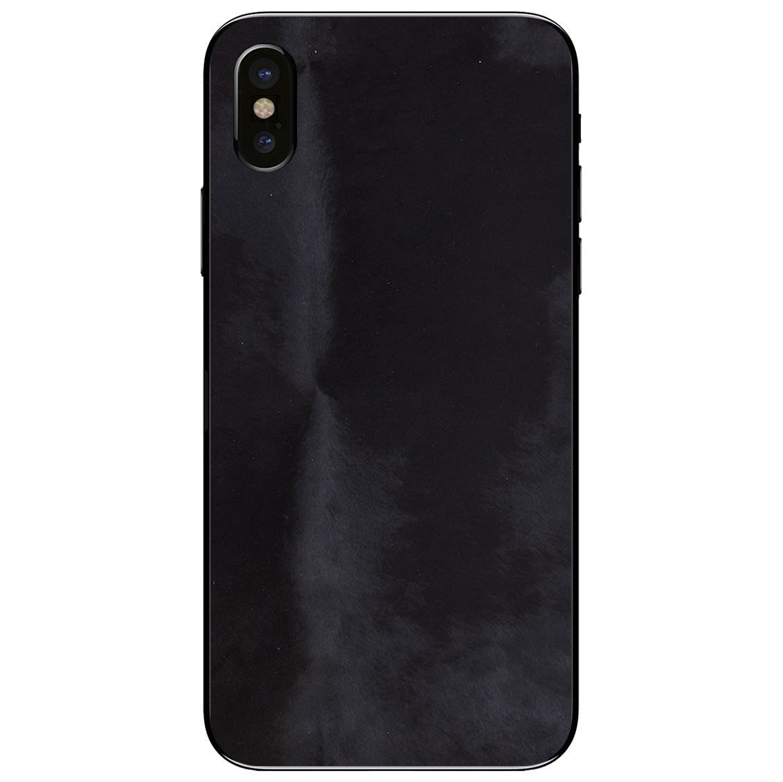 Black Pony Hair iPhone XS Leather Skin